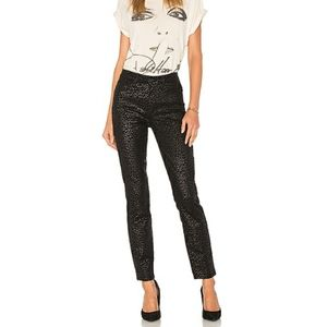 PAIGE Hoxton Ultra Skinny black leopard jeans 26